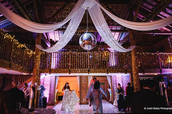 An Evening Reception In The Mill Barn At Gaynes Park Wedding Venue Essex