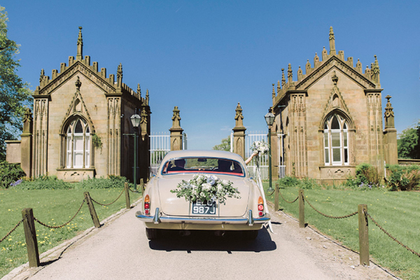 Entrance to the driveway at Gisburne Park Estate marquee wedding venue in Lancashire | CHWV