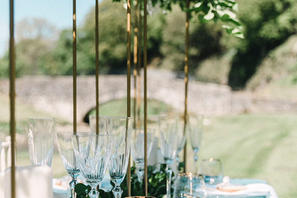 Outdoor wedding breakfast at Gisburne Park Estate marquee wedding venue in Lancashire | CHWV