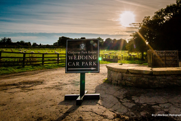 The entrance to Gisburne Park Estate marquee wedding venue in Lancashire | CHWV