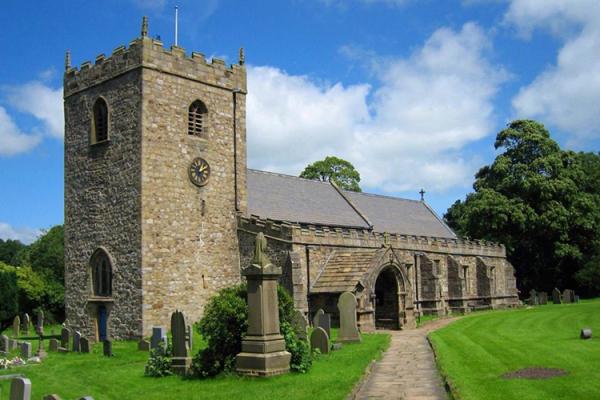 St Marys church near Gisburne Park Estate marquee wedding venue in Lancashire | CHWV