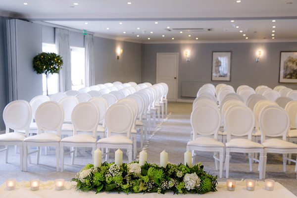 Set up for a wedding ceremony at Goodwood wedding venue in West Sussex | CHWV