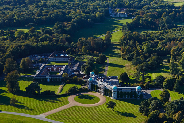 An aerial shot of Goodwood wedding venue in West Sussex | CHWV