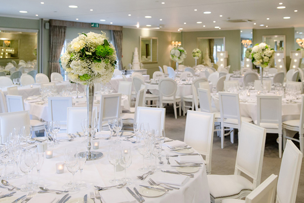 Set up for a wedding breakfast at Goodwood wedding venue in West Sussex | CHWV