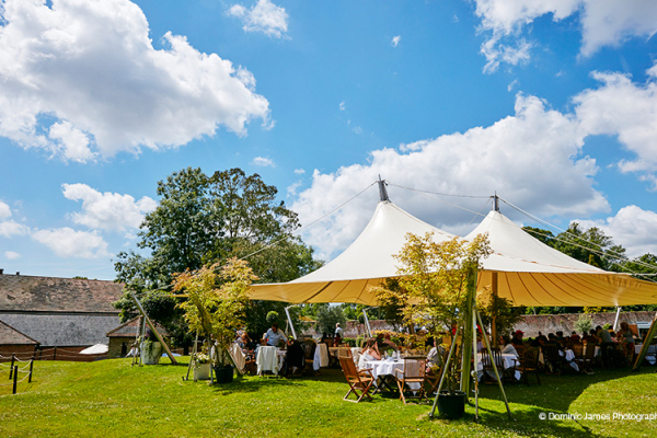 Wedding breakfast outdoors at Goodwood wedding venue in West Sussex | CHWV