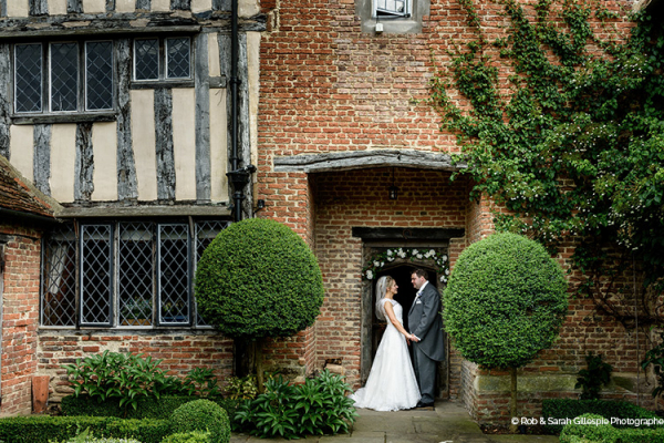 A happy couple at Gorcott Hall wedding venue in Worcestershire | CHWV