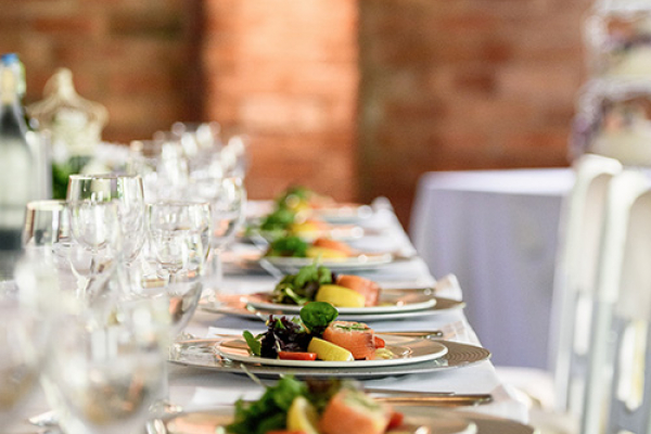 Food on the top table at Gorcott Hall in Worcestershire | CHWV