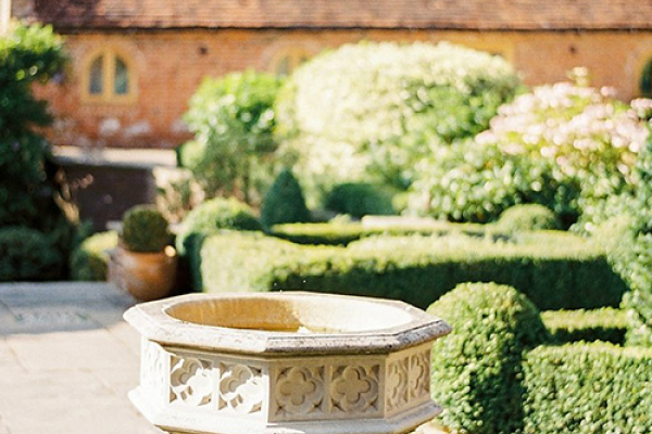 Ornamental fountain in the grounds at Gorcott Hall in Worcestershire | CHWV