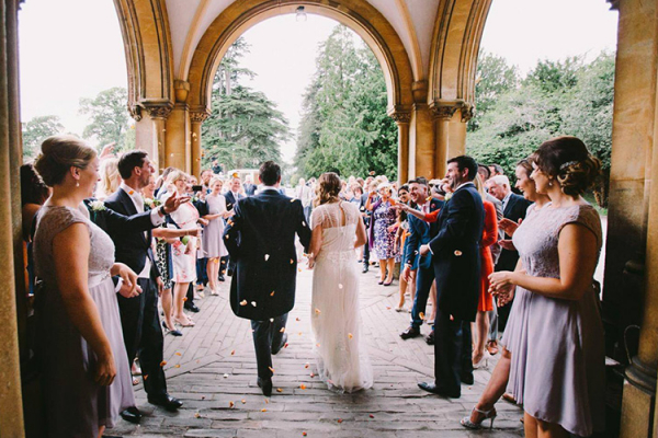 Just married confetti at Grittleton House wedding venue in Wiltshire | CHWV