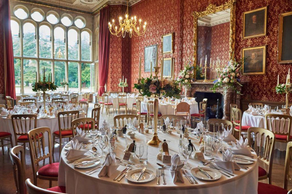 The Red Gallery set up at Grittleton House wedding venue in Wiltshire | CHWV