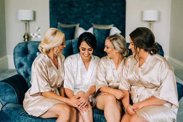A Bride and her Bridesmaids at Grittleton House | Wedding Venues Wiltshire