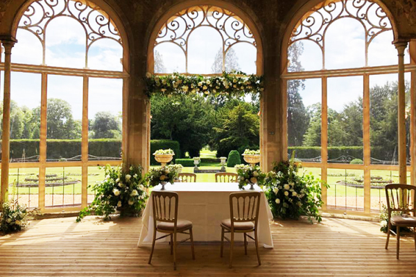 Ceremony in the Orangery at Grittleton House | Wedding Venues Wiltshire