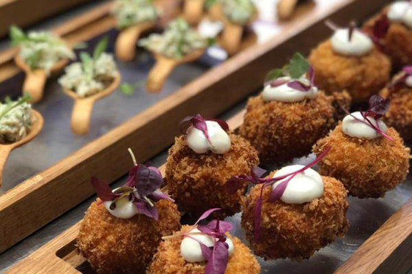 Drinks Reception Canapes at Grittleton House | Wedding Venues Wiltshire