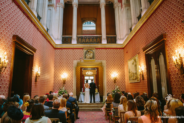 A wedding ceremony at Grittleton House wedding venue in Wiltshire | CHWV