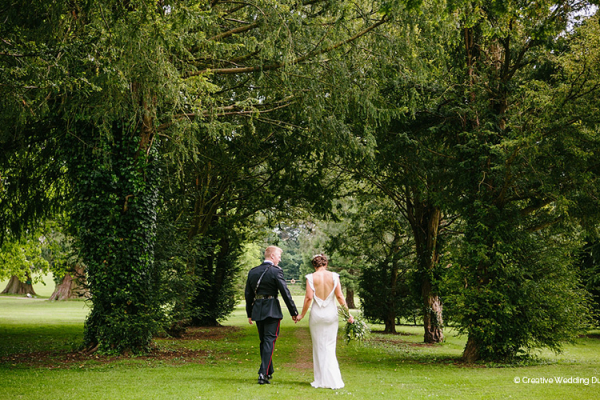 A couple taking a moment at Grittleton House wedding venue in Wiltshire | CHWV