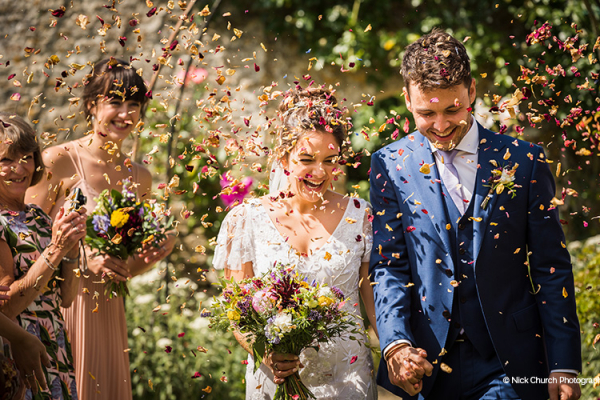 Just Married at Guyers House | Wedding Venues Wiltshire