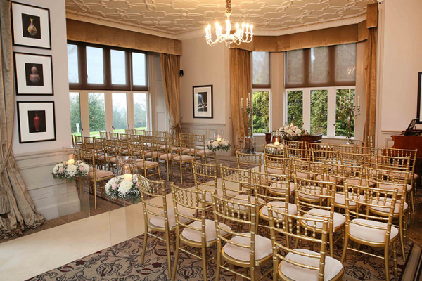 Hartsfield Manor wedding venue in Surrey set up for a ceremony | CHWV