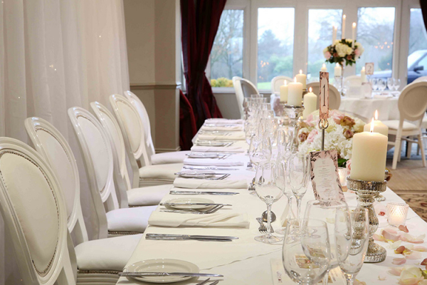 Hartsfield Manor wedding venue in Surrey set up for a reception | CHWV