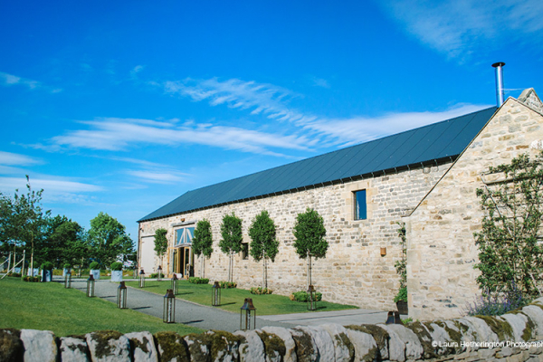 Healey Barn wedding venue in Northumberland in glorious sunshine | CHWV