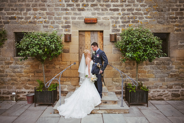 A happy couple at Healey Barn wedding venue in Northumberland | CHWV