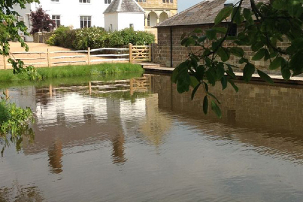 The river at Hendall Manor Barn wedding venue in East Sussex | CHWV