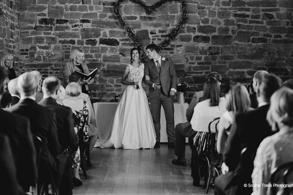 Just married at Hendall Manor Barn wedding venue in East Sussex | CHWV