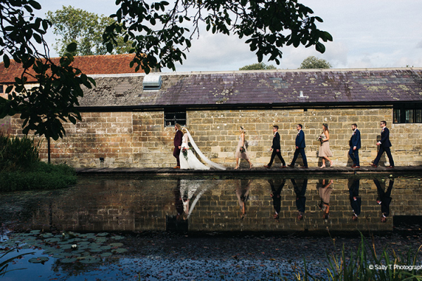 The bridal party at Hendall Manor Barn wedding venue in East Sussex | CHWV