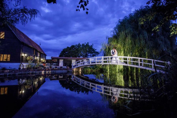 The bridge at High House Weddings wedding venue in Essex | CHWV