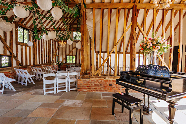 Set up for a ceremony at High House Weddings wedding venue in Essex | CHWV