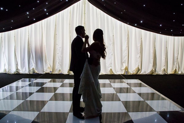 First dance in the marquee at High House Weddings wedding venue in Essex | CHWV