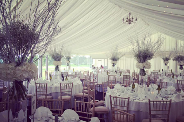 The marquee at High House Weddings wedding venue in Essex | CHWV