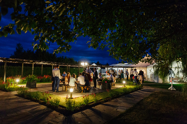 High House Weddings wedding venue in Essex in the evening | CHWV