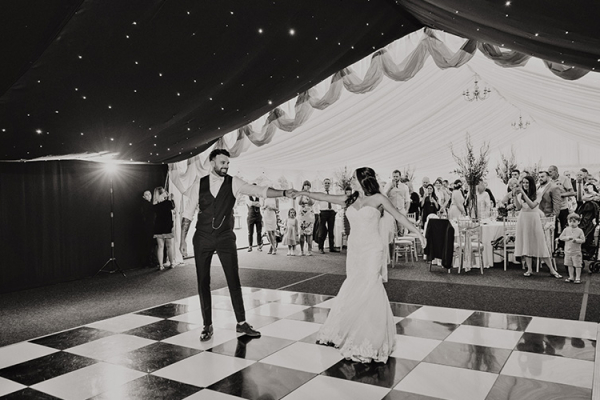 Romantic first dance at High House Weddings wedding venue in Essex | CHWV