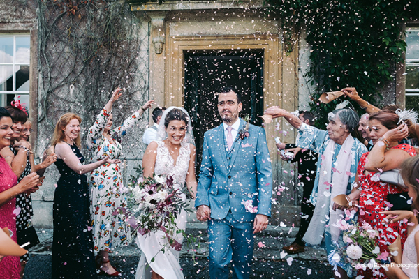 Just married celebrations at Holbrook Manor country house wedding venue in Somerset | CHWV