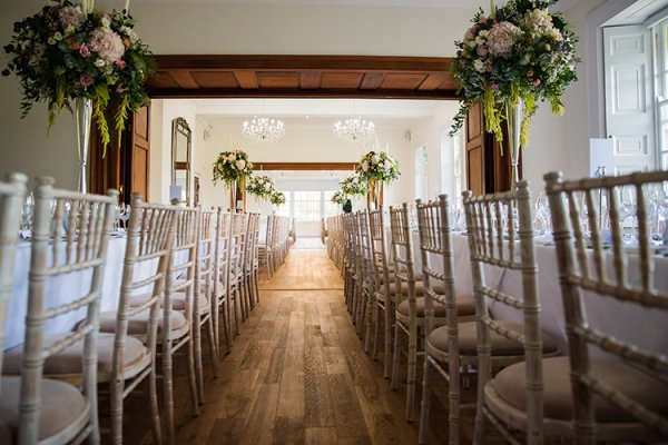 Set up for a wedding ceremony at Holbrook Manor country house wedding venue in Somerset | CHWV