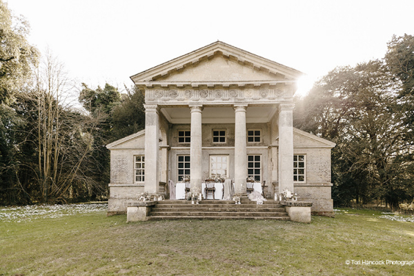 The magnificent Temple at Holkham Hall wedding venue in Norfolk | CHWV