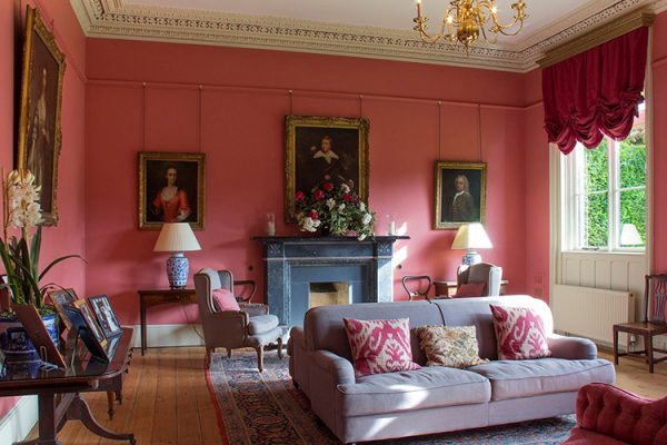 The Drawing Room at Holme Pierrepont Hall wedding venue in Nottinghamshire | CHWV