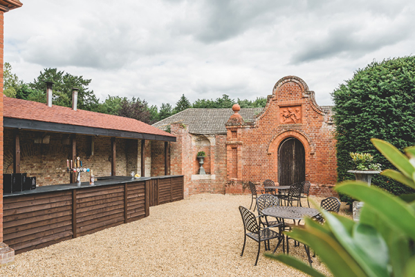 The Outside Terrace Bar at Holmewood Hall | Wedding Venues Cambridgeshire