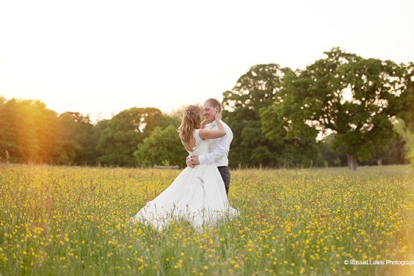 A happy couple taking a moment at Homme House wedding venue in Herefordshire | CHWV