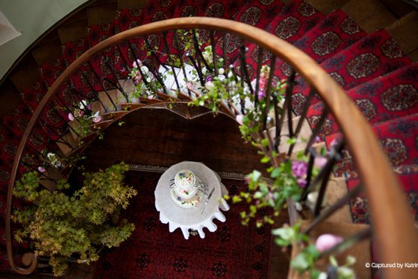 The spiral staircase at Homme House wedding venue in Herefordshire | CHWV