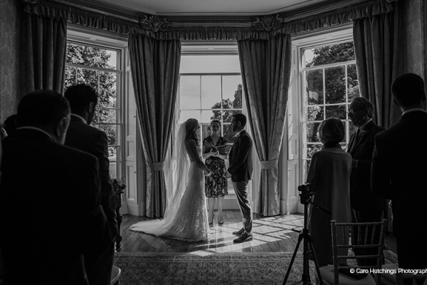 A wedding ceremony at Homme House wedding venue in Herefordshire | CHWV