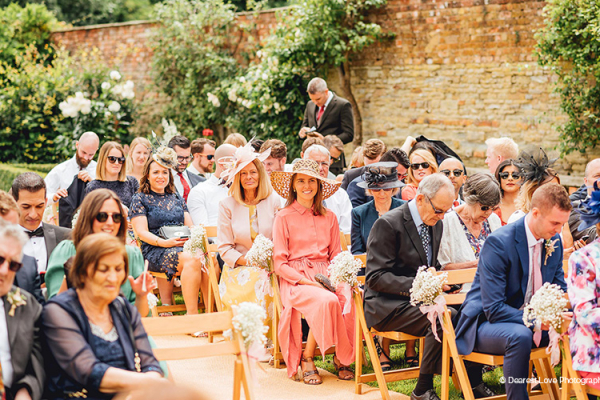 Ceremony congregation at Homme House wedding venue in Herefordshire | CHWV