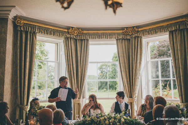Speeches in the dining room at Homme House wedding venue in Herefordshire | CHWV