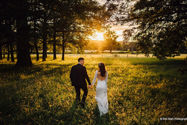 A stroll as the sun is setting at Homme House wedding venue in Herefordshire | CHWV