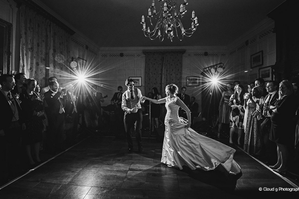 A romantic first dance at Homme House wedding venue in Herefordshire | CHWV