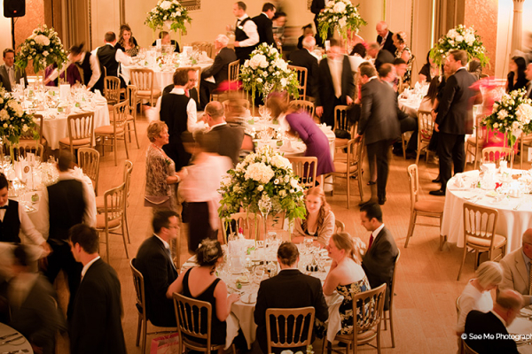 A wedding reception at Lansdowne Club