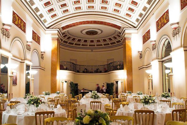 Set up for a wedding reception at Lansdowne Club
