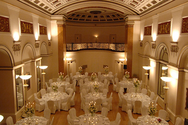 Lansdowne Club set up for a wedding reception
