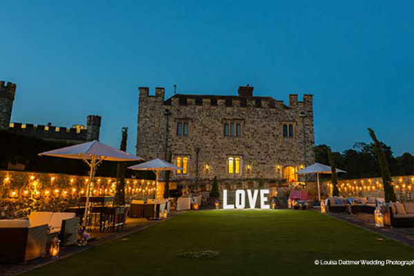 Leeds Castle wedding venue in Kent in the evening | CHWV
