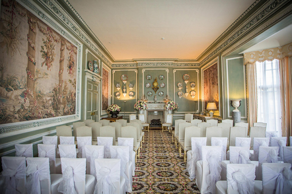Set up for a wedding ceremony at Leeds Castle wedding venue in Kent | CHWV